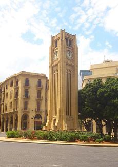 nijme sqaure clock in beirut lebanon